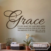 Ephesians 2v8 Vinyl Wall Decal 3