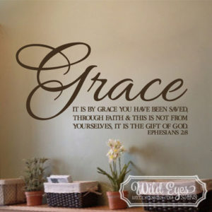 Ephesians 2:8 Vinyl Wall Decal 3