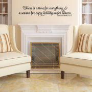 Ecclesiastes 3:1 Vinyl Wall Decal