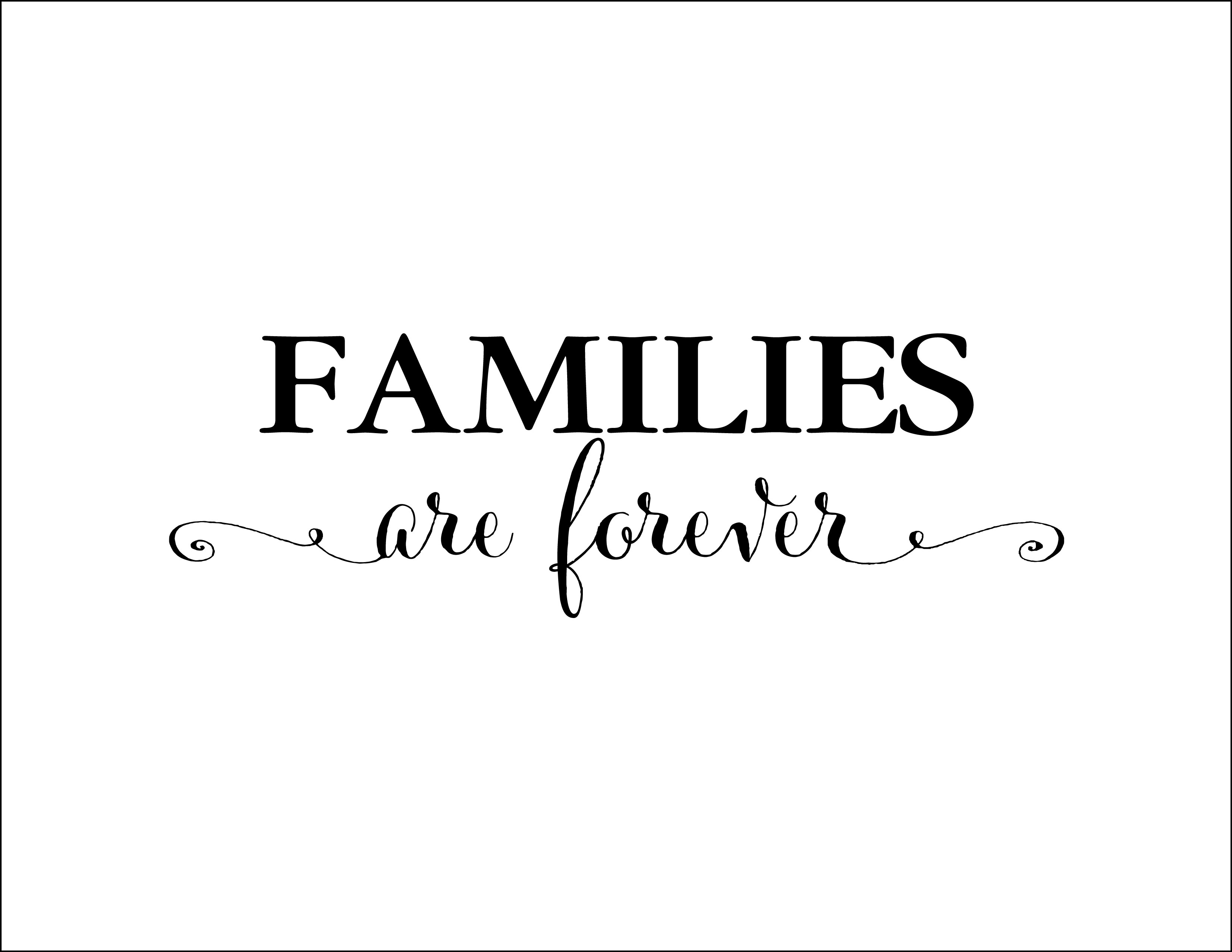 families are forever vinyl wall decal family photo wall decal foyer living room entry way. Black Bedroom Furniture Sets. Home Design Ideas