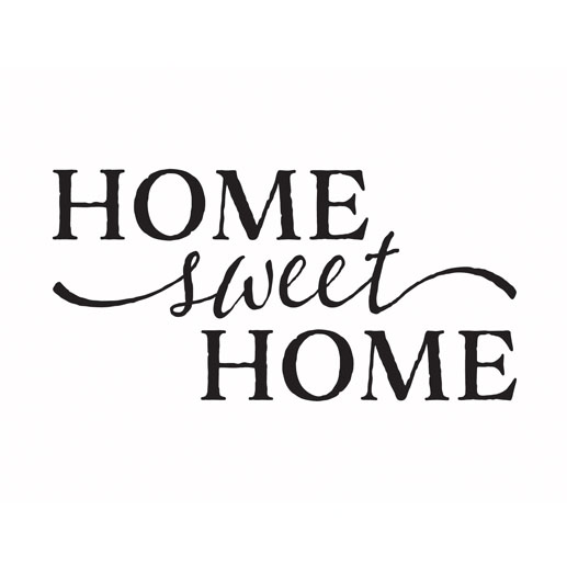 Home Sweet Home Vinyl Wall Art Hallway Foyer Living room Décor