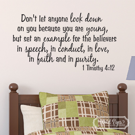 1 Timothy 4:12 Vinyl Wall Decal 2