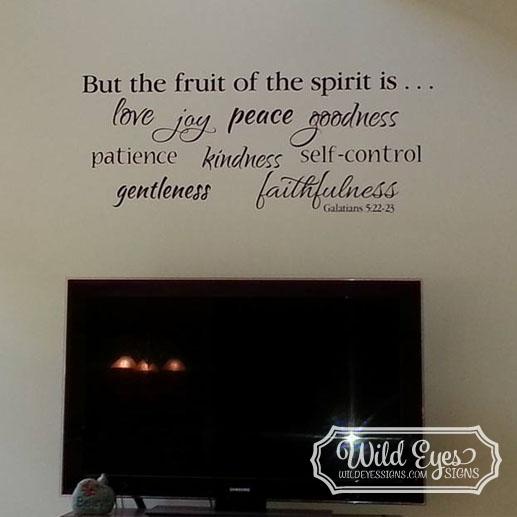 Galatians 5 22 23 Vinyl Wall Decal 2 Fruit Of The Spirit