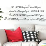 Isaiah 41:10 Vinyl Wall Decal