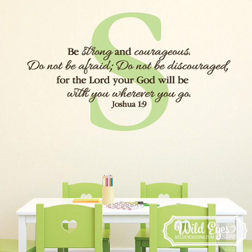 Joshua 1v9 Vinyl Wall Decal 7