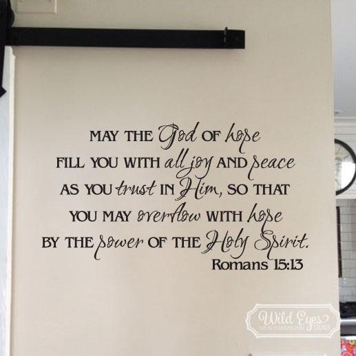 Romans 15:13 Vinyl Wall Decal