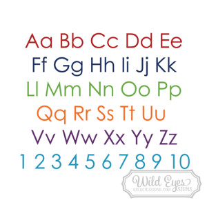 Alphabet Lettering Vinyl Wall Decal