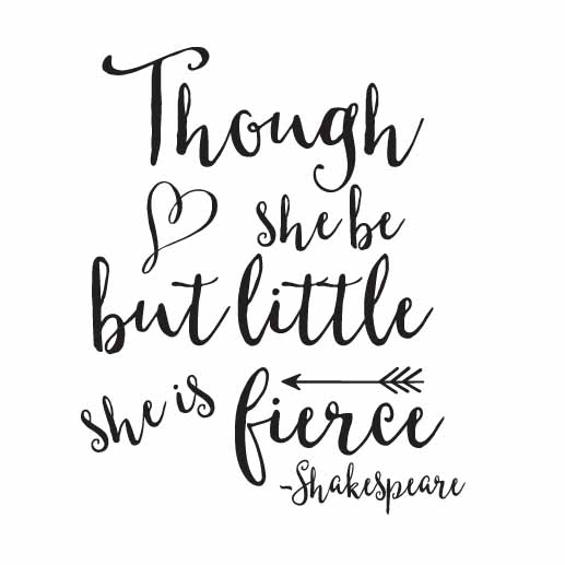 Image result for though she be but little she is fierce
