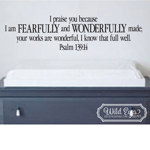 Psalm 139v14 Vinyl Wall Decal 3