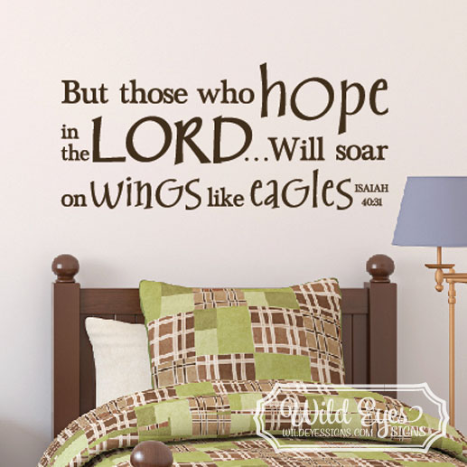 IIsaiah 40:31 Vinyl Wall Decal 3