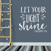 Matthew 5v16 Vinyl Wall Decal 1