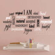 I am - positive word collage Vinyl Wall Decal