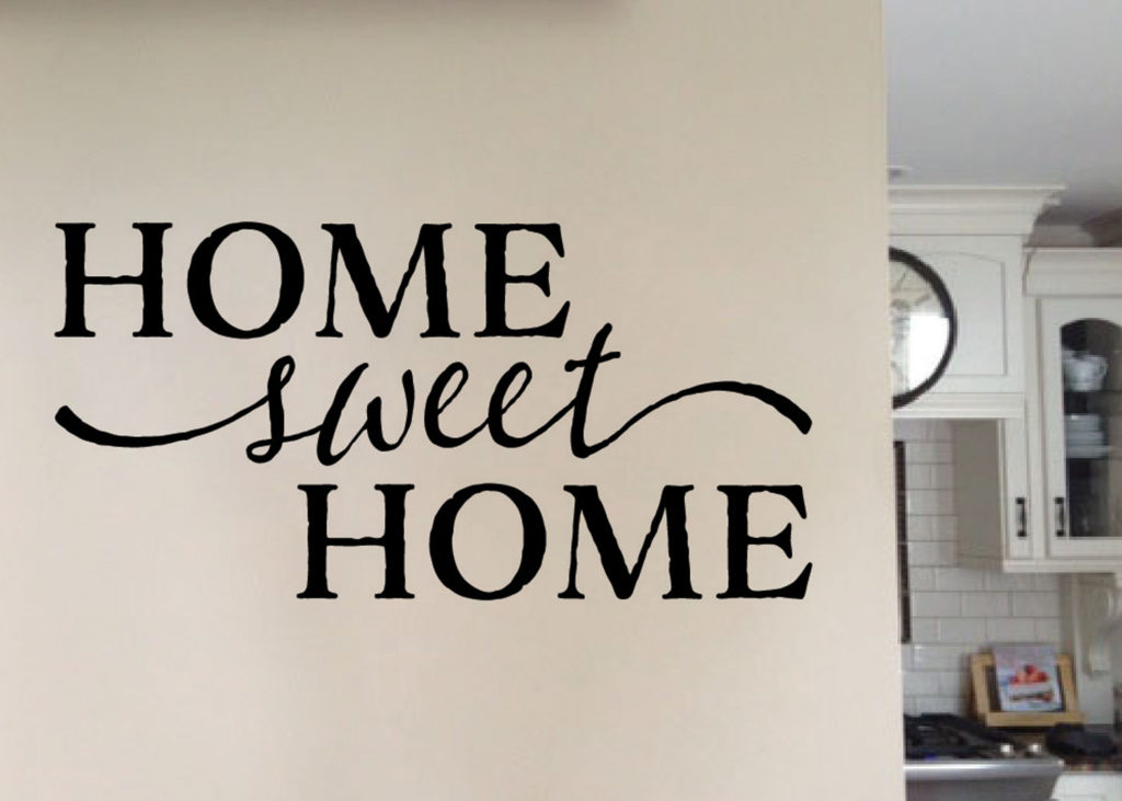 Home Sweet Home Version 1 Vinyl Wall Art Wall Decal Quote