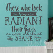 Psalm 34:5 Vinyl Wall Decal