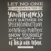 1 Timothy 4:12 Vinyl Wall Decal version 4