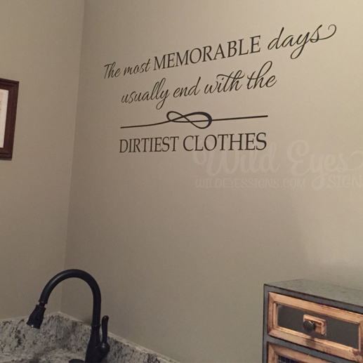 The most memorable days wall decal 1