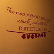 The most Memorable Days Vinyl Wall Decal with laundry line