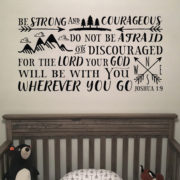Joshua 1v9 Vinyl Wall Decal 20