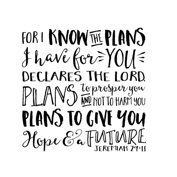 Jeremiah 2911 Vinyl Wall Decal 3 For I Know The Plans I Have For