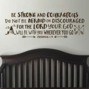 Joshua 1v9 Vinyl Wall Decal 27