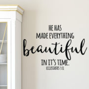 Ecclesiastes 3:11 Vinyl Wall Decal