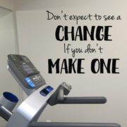 Don't Expect to see a change if you don't make one Vinyl Wall Decal