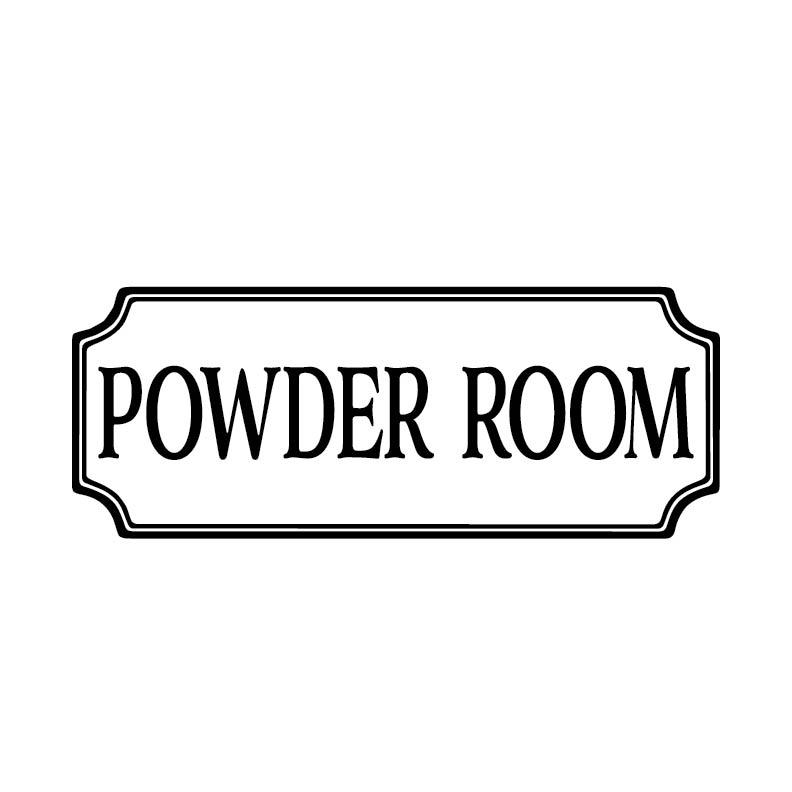 Powder Room Vinyl Decal Bathroom Vinyl Decal Glass Door Decal