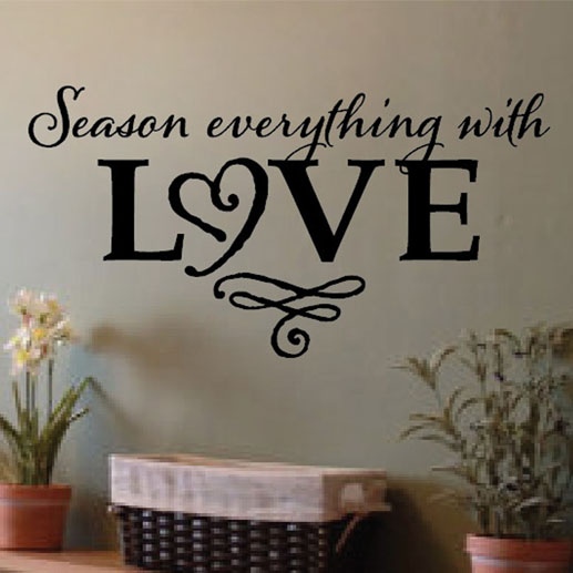 season everything with love vinyl wall decalwild eyes signs
