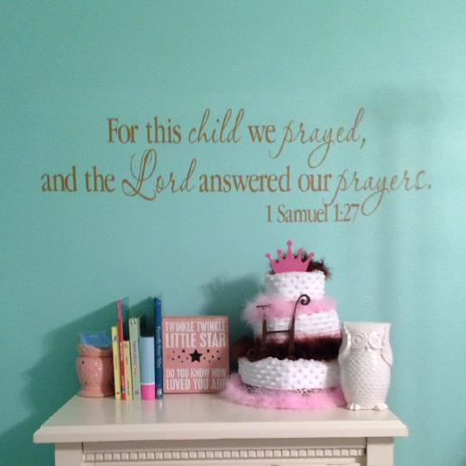1 Samuel 1:27 Vinyl Wall Decal 1