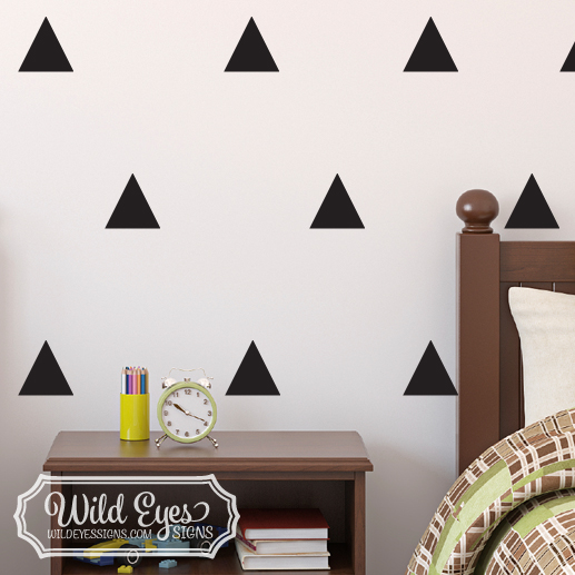 Ordinaire Triangle Vinyl Wall Decals