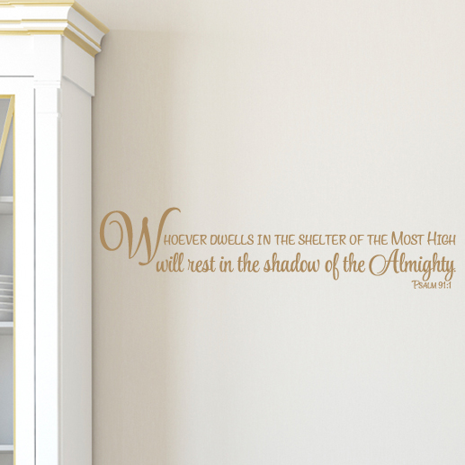 Psalm 91:1 Vinyl Wall Decal 1