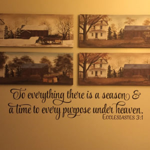 Ecclesiastes 3:1 Vinyl Wall Decal 2