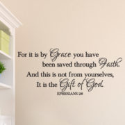 Ephesians 2v8 Vinyl Wall Decal 4