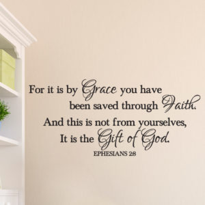 Ephesians 2:8 Vinyl Wall Decal 4