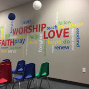 Faith Worship Love Word collage Vinyl Wall Decal
