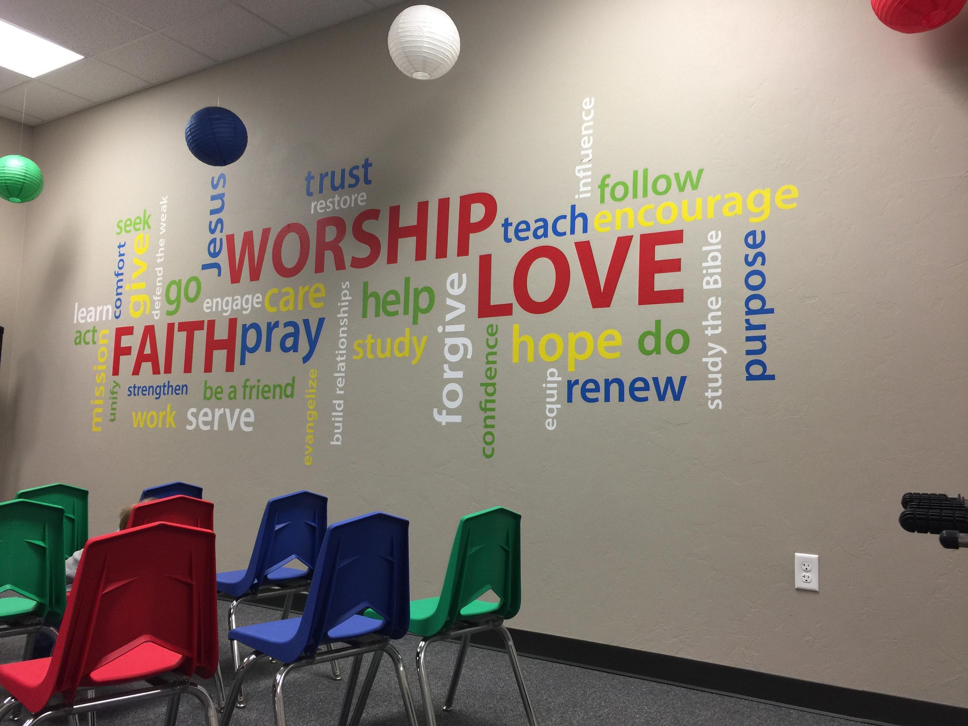 Sunday School Room Wall Decals
