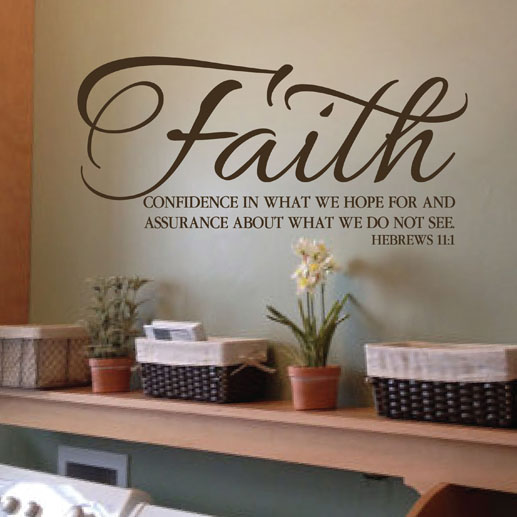 Merveilleux Hebrews 11:1 Vinyl Wall Decal