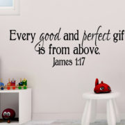 James 1:17 Vinyl Wall Decal 3