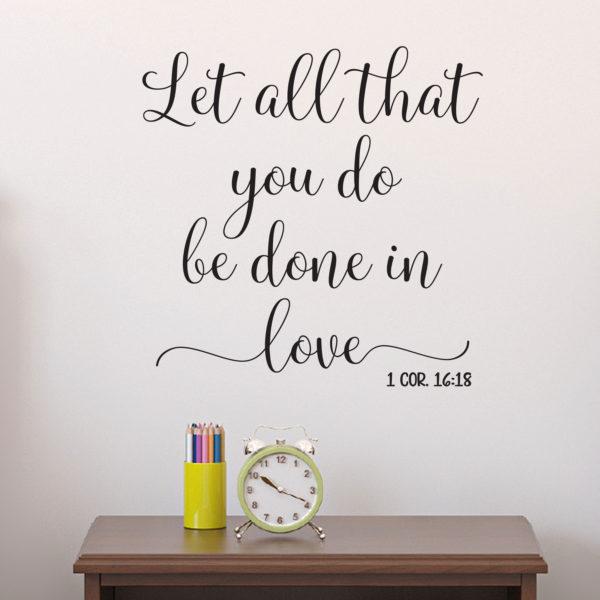 1 Corinthians 16:18 Vinyl Wall Decal