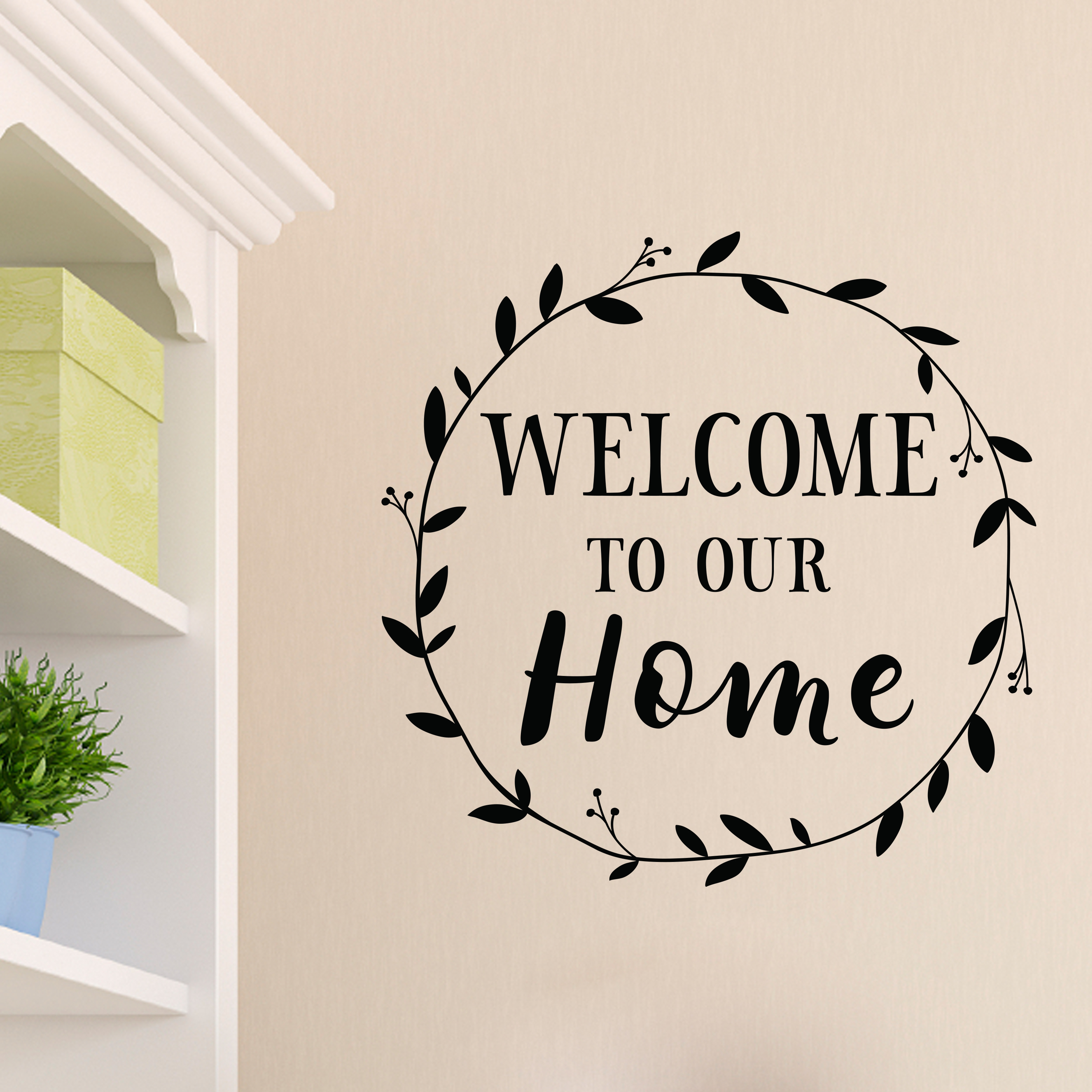 Welcome To Our Home: Welcome To Our Home Vinyl Wall Decal, Entry Wall Art