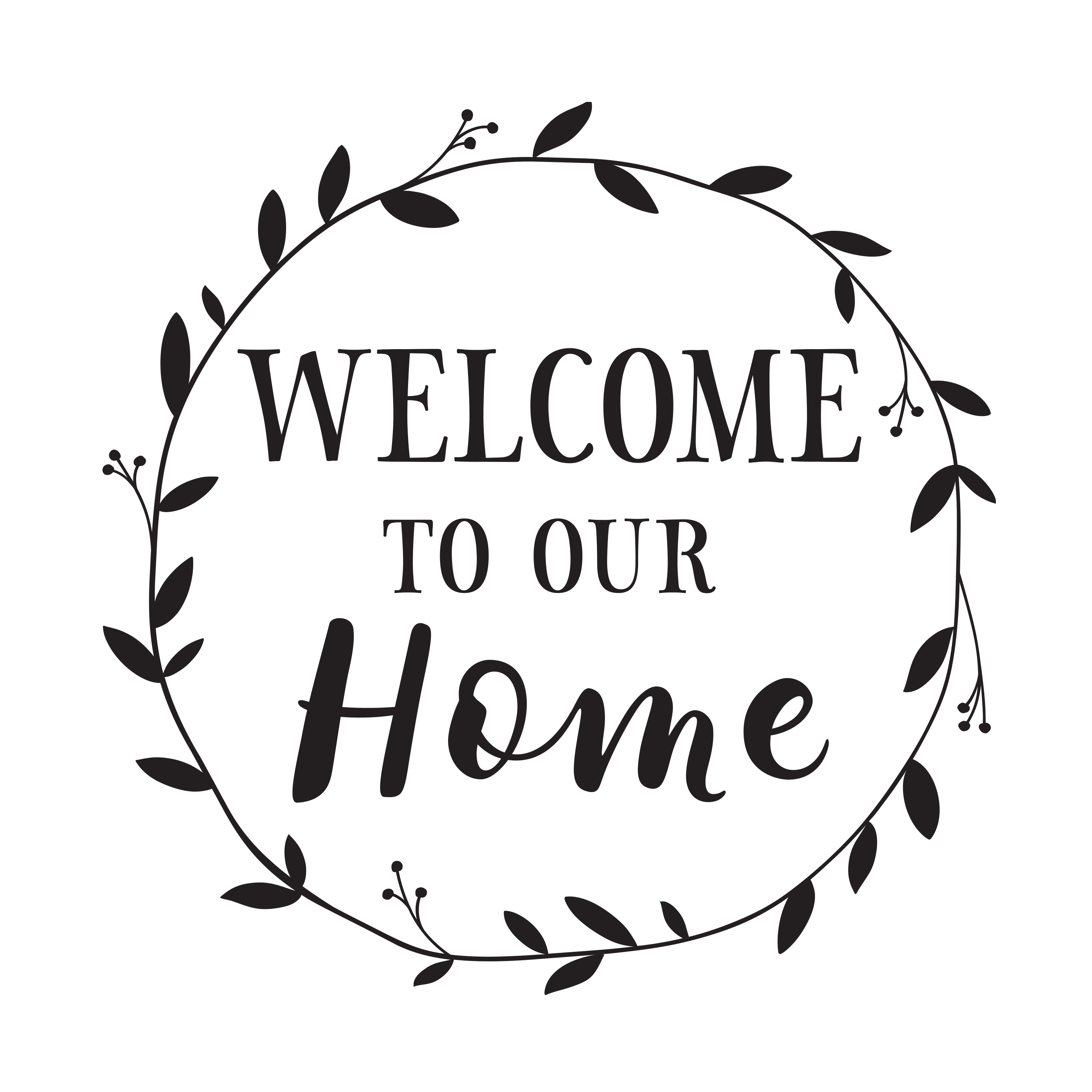 Welcome To Our Home Vinyl Wall Decal Entry Wall Art