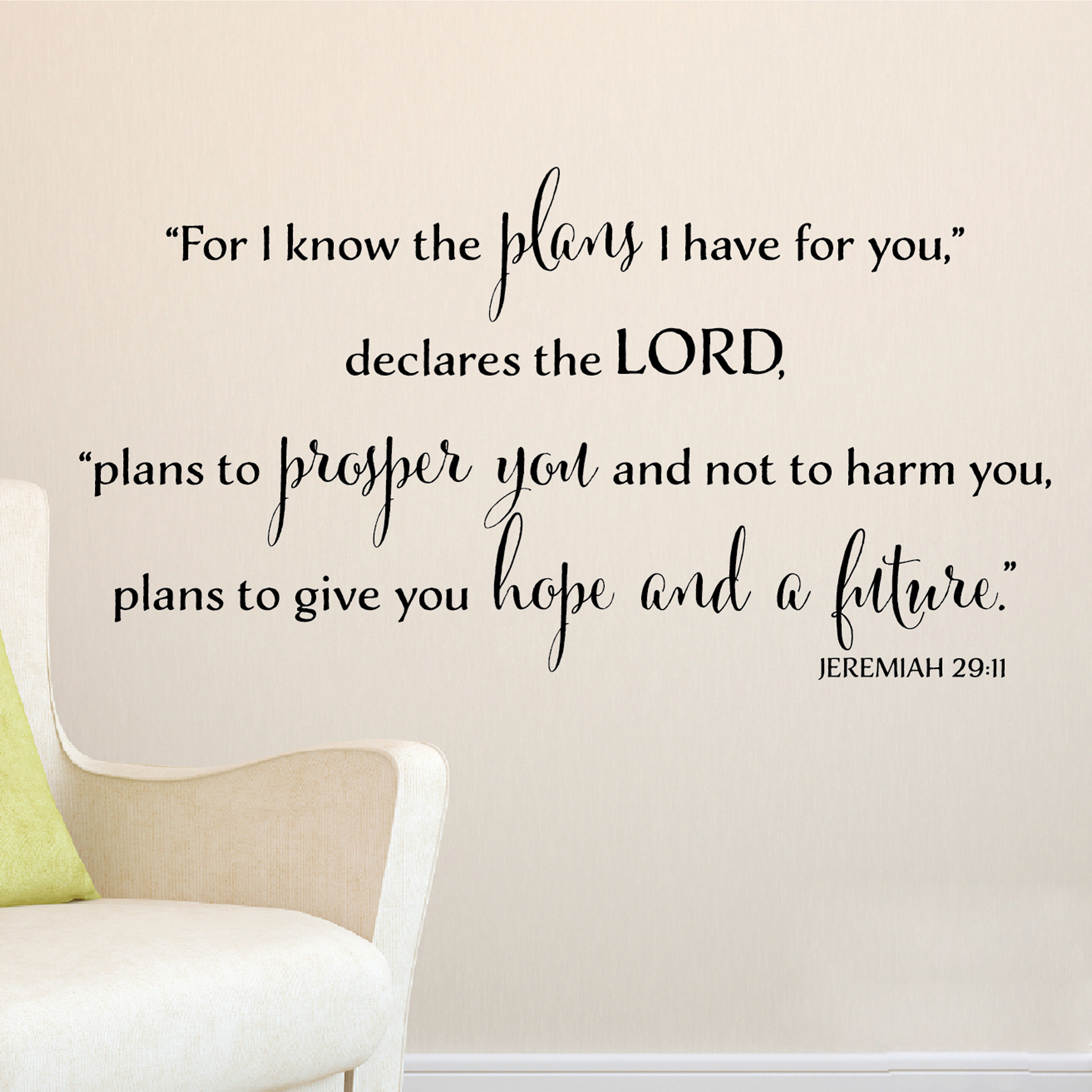 Jeremiah 29v11 Vinyl Wall Decal 12 For I Know The Plans I