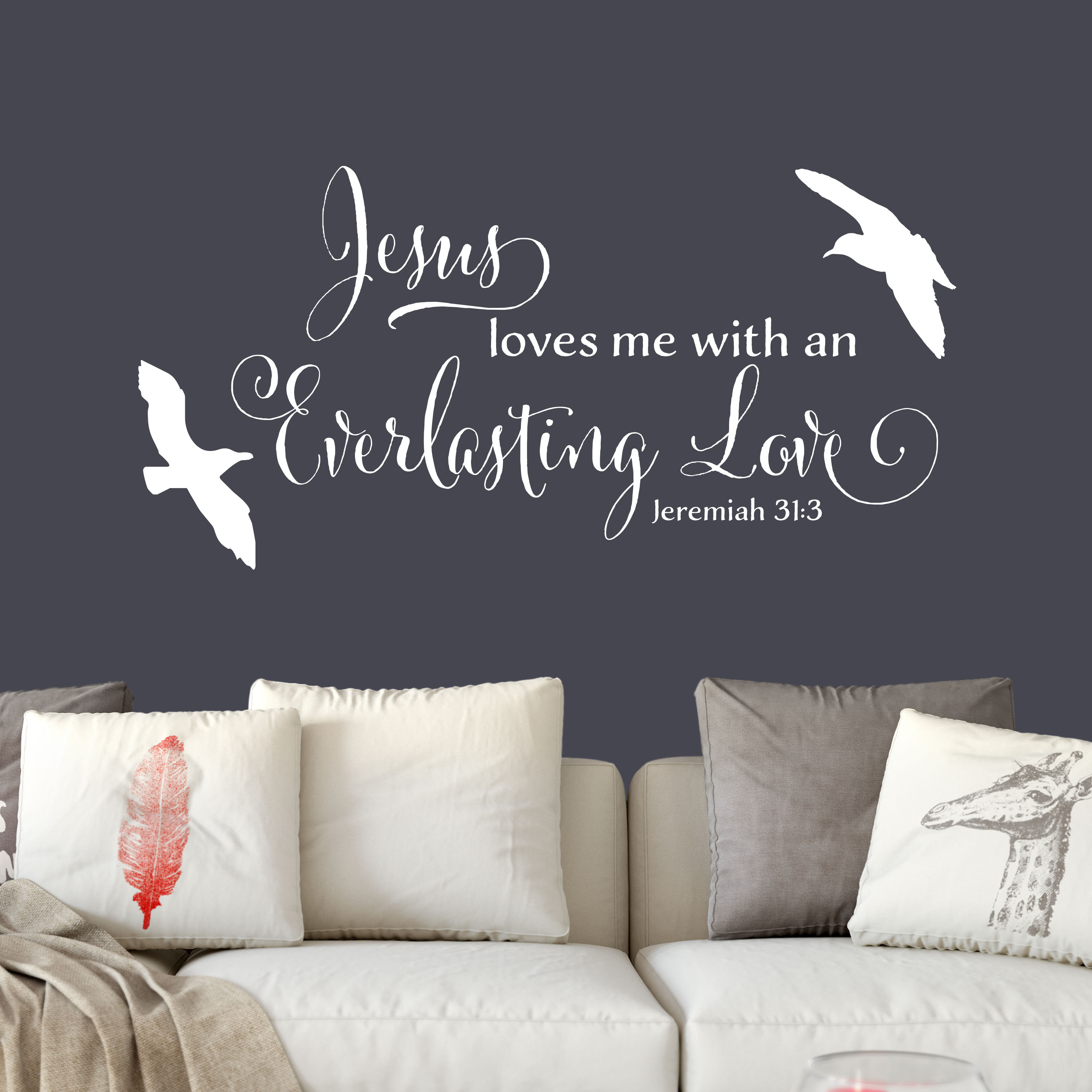 Jeremiah 31v3 Vinyl Wall Decal 1