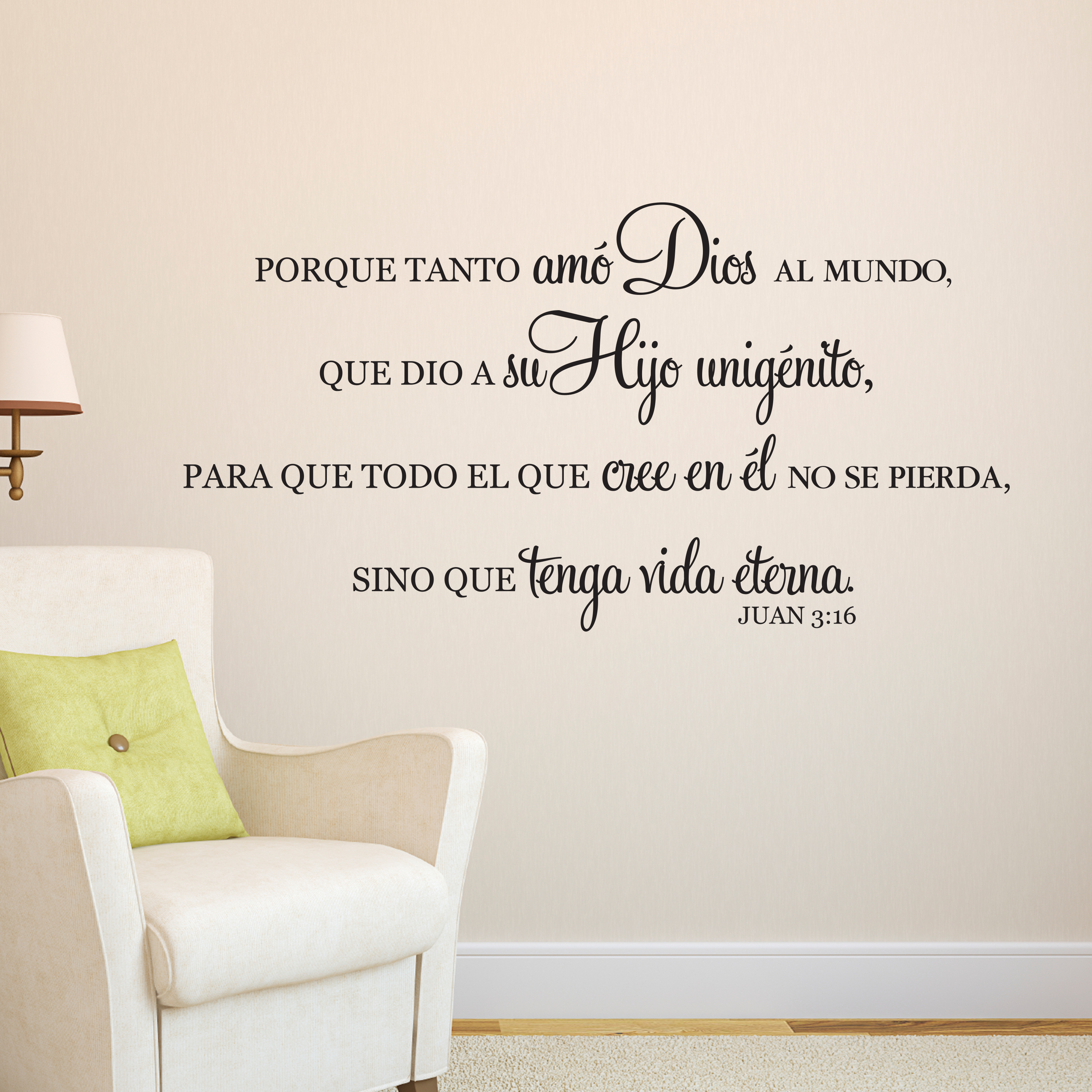 For god so loved the world archives john 316 vinyl wall decal 3 spanish by wild eyes signs porque tanto am dios for god so loved the world scripture bible verse christian wall words amipublicfo Choice Image