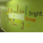 KIDZ ZONE Word Collage Vinyl Wall Decal