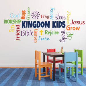 Kingdom Kids Word Collage Vinyl Wall Decal