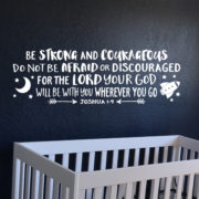 Joshua 1v9 Vinyl Wall Decal 31