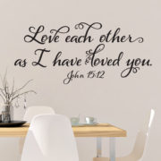 John 15v12 Vinyl Wall Decal 1