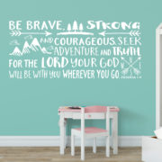 Joshua 1v9 Vinyl Wall Decal 25