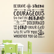 Joshua 1v9 Vinyl Wall Decal 35